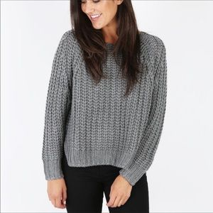 Kut Chunky Knit Gray Sweater medium